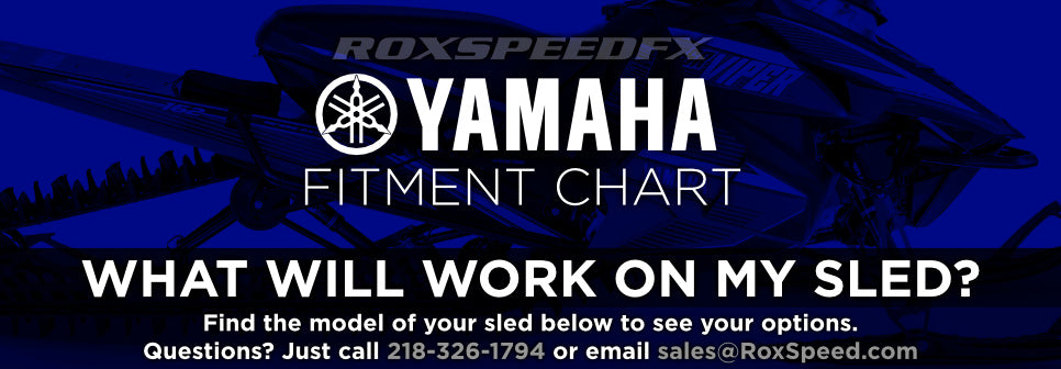 Customize your Yamaha Snowmobile! See the chart below!