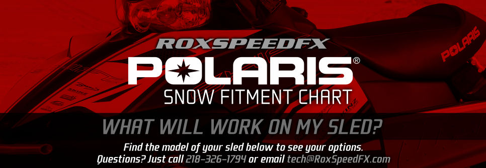 Customize your Polaris Snowmobile! See the chart below!
