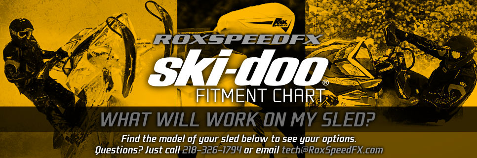 Customize your Ski-Doo Snowmobile! See the chart below!