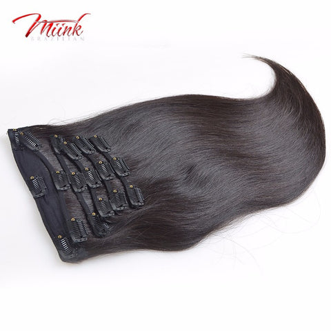 Miink 6 piece clip ins (Straight)