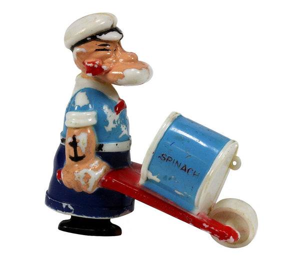 Vintage Popeye Wheelbarrow Children's Toy
