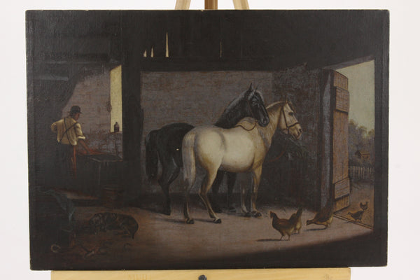 Blacksmith Oil on Canvas Painting