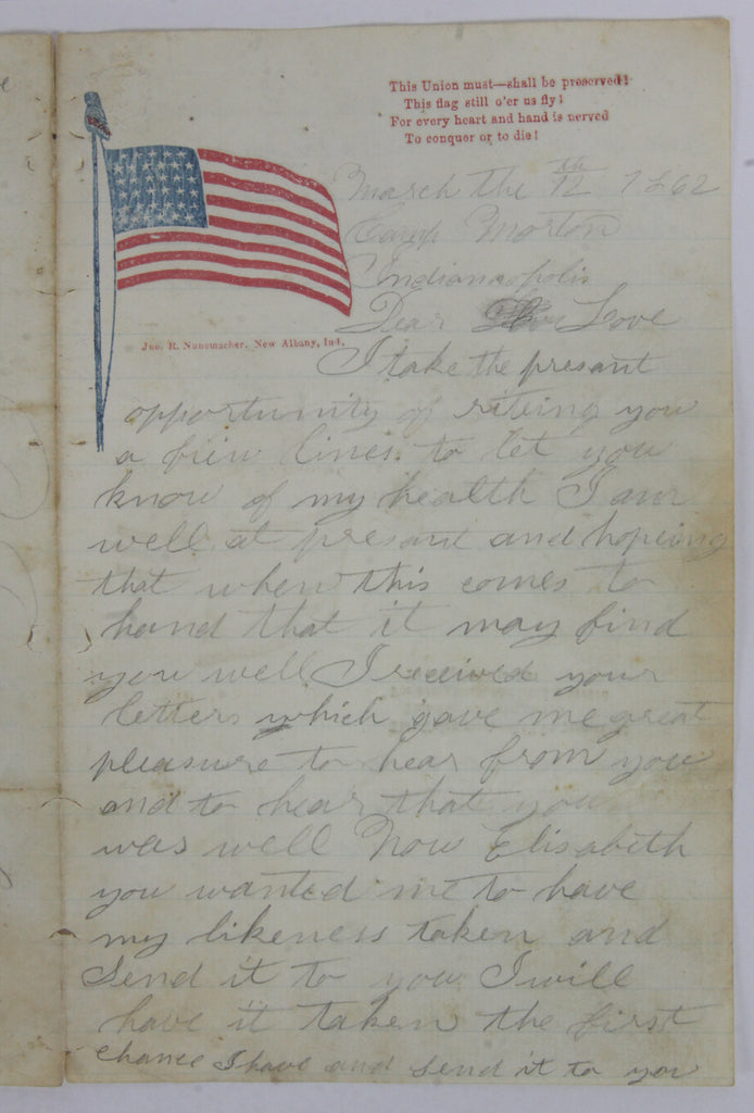 Civil War Letter Page 1