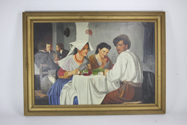 In a Roman Osteria painting reproduction