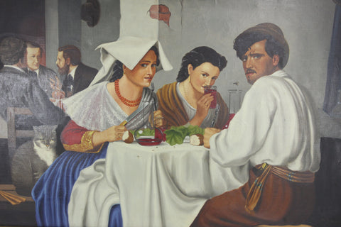Reproduced painting of In a Roman Osteria by Eli Andersen