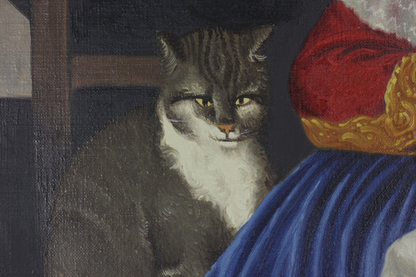 Quirky cat in Eli Andersen painting