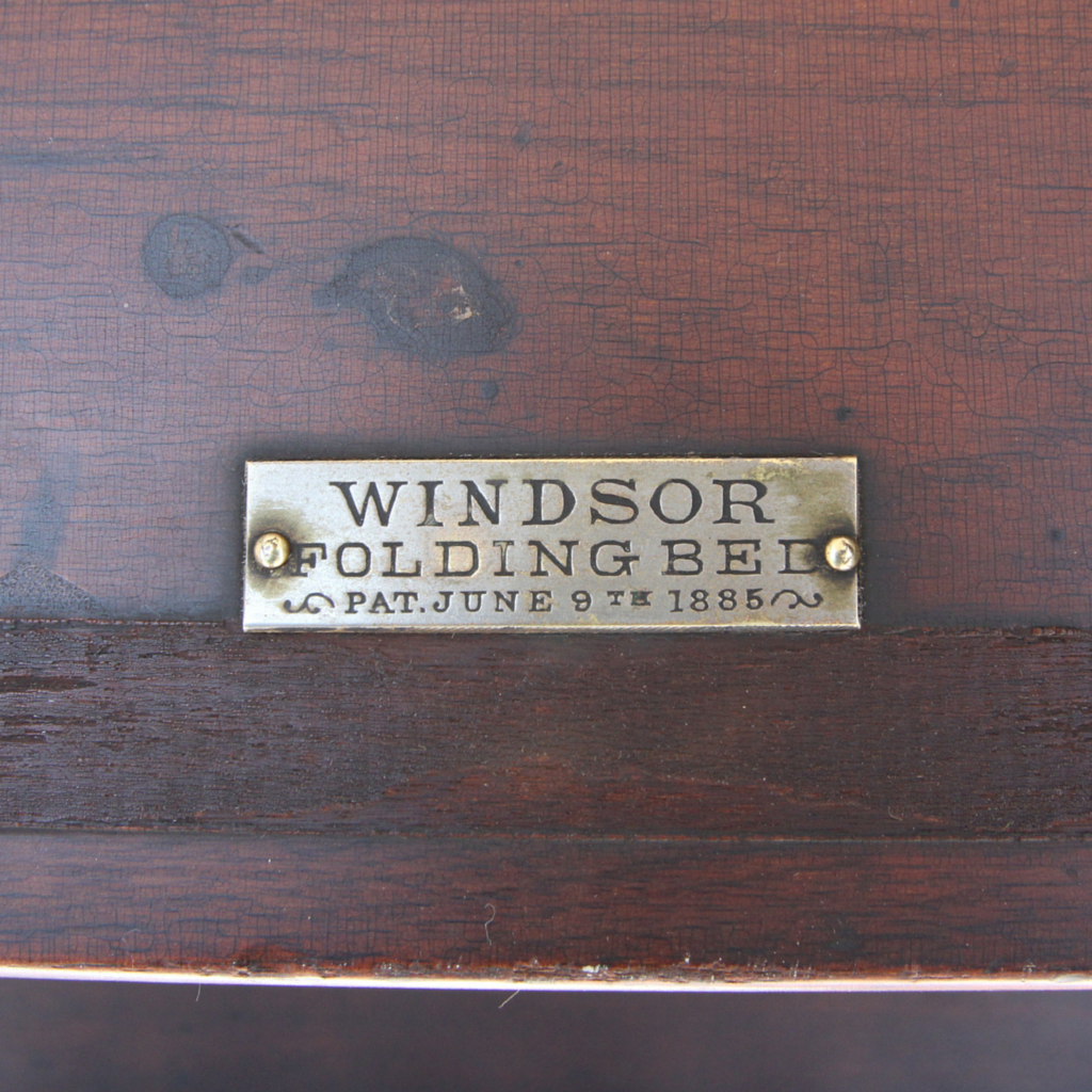 Windsor Folding Bed Patented June 9th, 1885