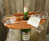Hand Crafted Brassfield Originals Cedar Wood Wine Glass Rack Holder & 2 Goblets