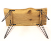 Brassfield Original Handmade Live Edge Sofa Table Spalted Pecan Hairpin Legs