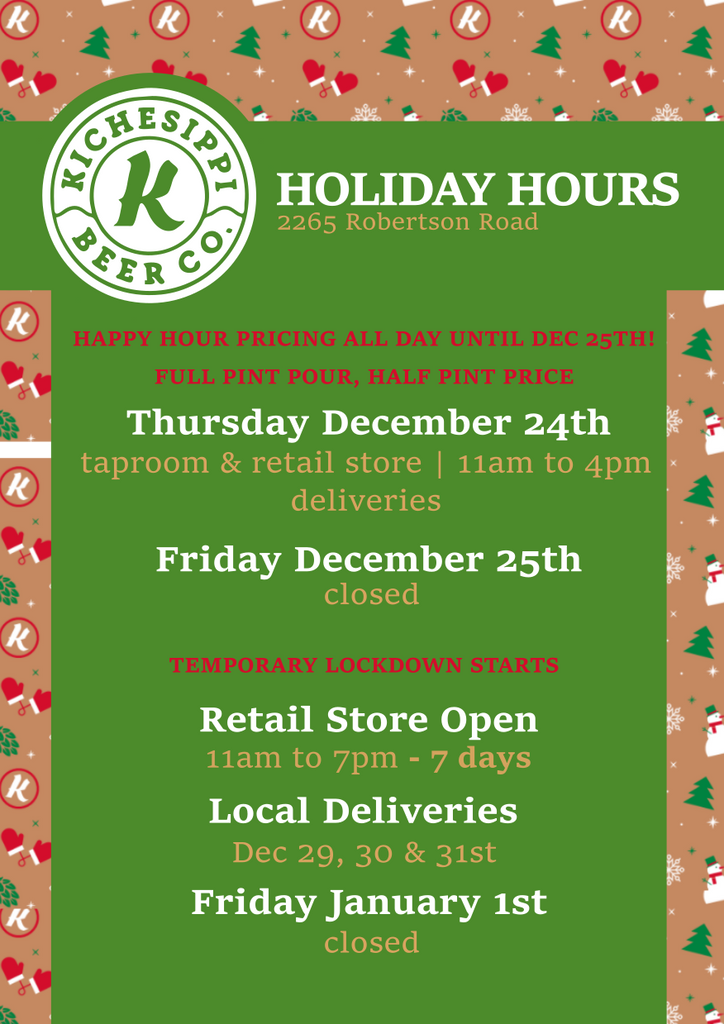 UPDATED Holiday Hours