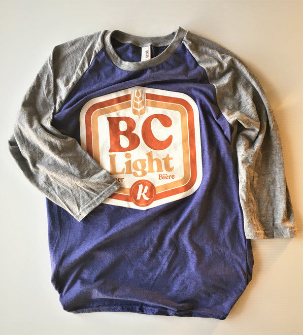 BC Light 3/4 Baseball Tee