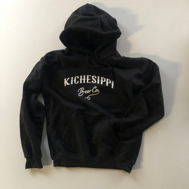 Classic Pullover Hoodie - Black (large logo)