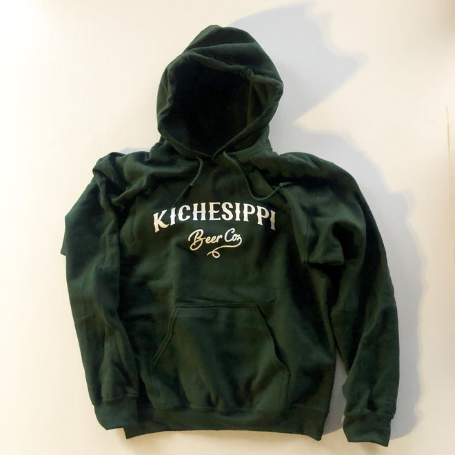 Classic Pullover Hoodie - Green (large logo)