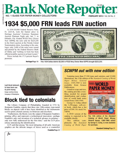 Bank Note Reporter Magazine Subscription