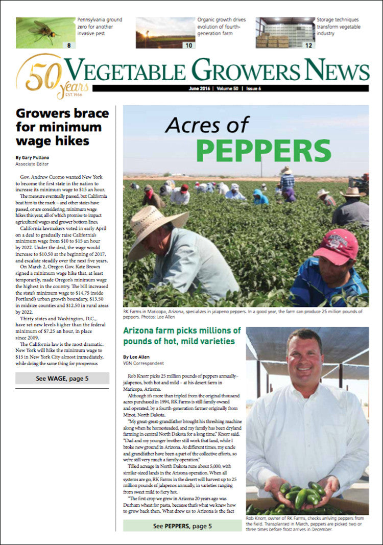 Best Price for Vegetable Growers News Magazine Subscription