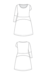Washington Dress printed pattern