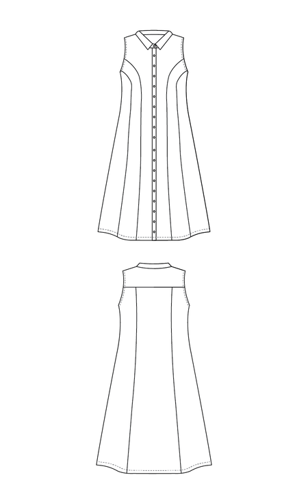 Harrison Shirtdress PDF pattern
