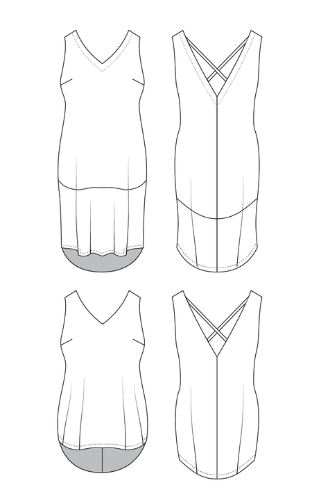 Webster Top & Dress PDF pattern