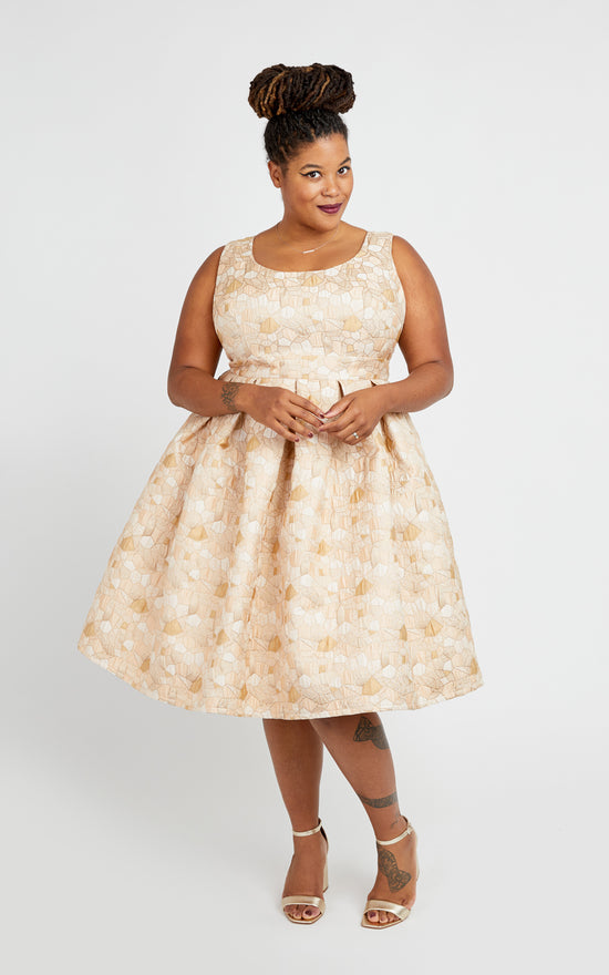 Upton Dress printed pattern