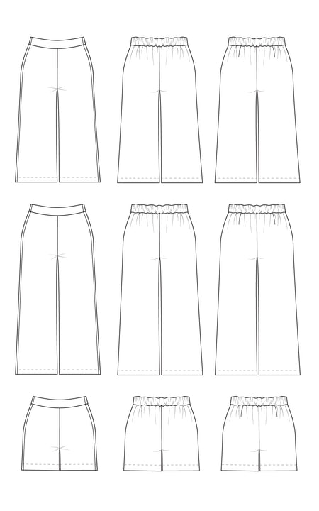 Calder Pants & Shorts printed pattern: Wholesale