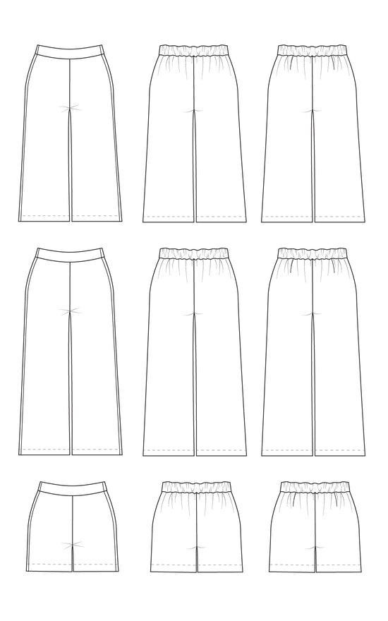 Calder Pants & Shorts printed pattern