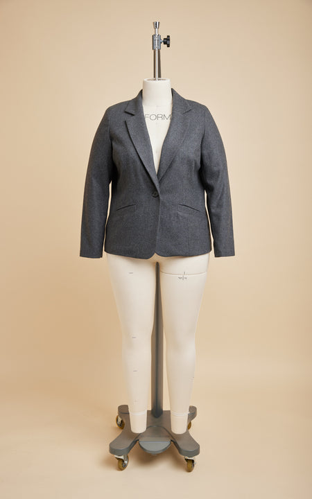 Auburn Blazer Bundle: Dark Gray Melton Wool Kit