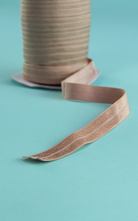 Beige Fold Over Elastic by the Yard