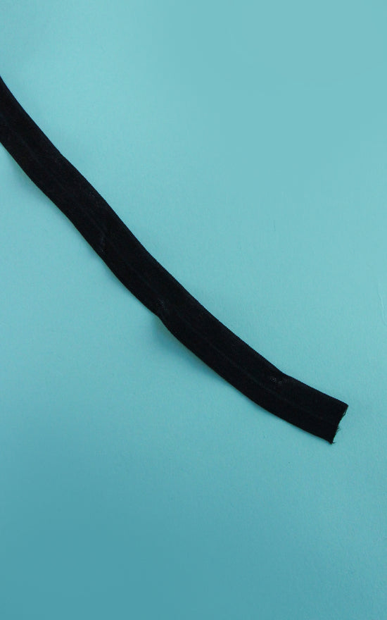 Pre-Cut Black Fold Over Elastic, 1 Yard