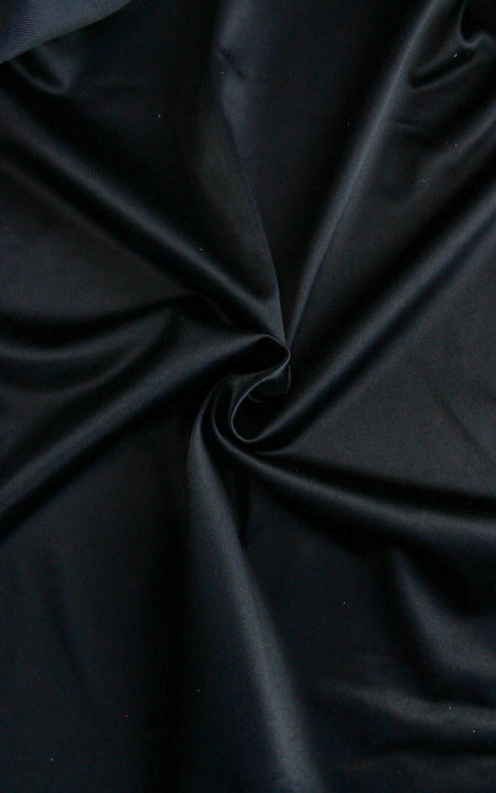 Pre-Cut Black Duoplex Fabric, Various Lengths