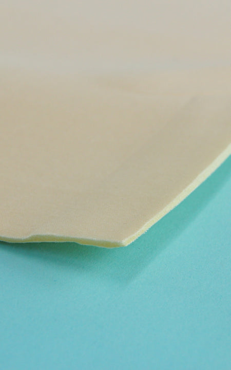 Pre-Cut Beige Cut-and-Sew Bra Foam, Various Lengths