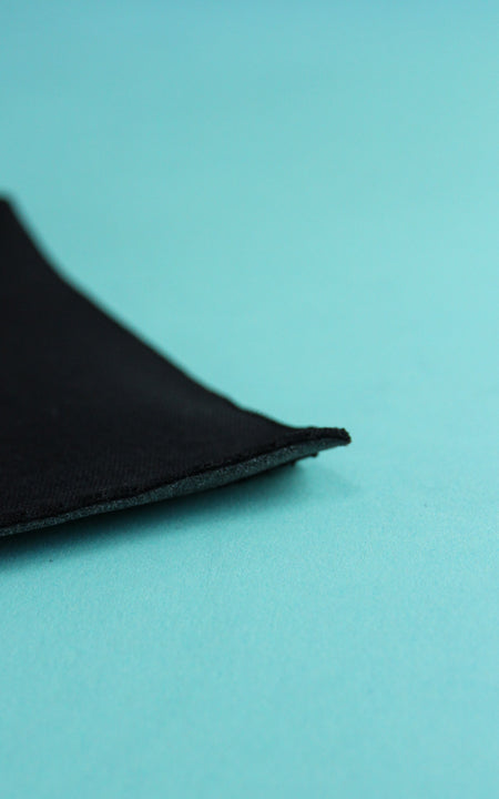 Pre-Cut Black Cut-and-Sew Bra Foam, Various Lengths