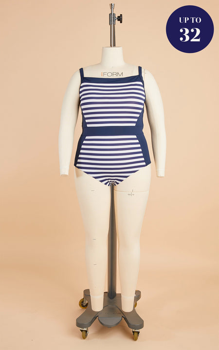 Ipswich Swimsuit Bundle: Stripes Fabric & Notions Kit