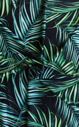Pre-Cut Palm Print Swim Fabric, 5/8 yd