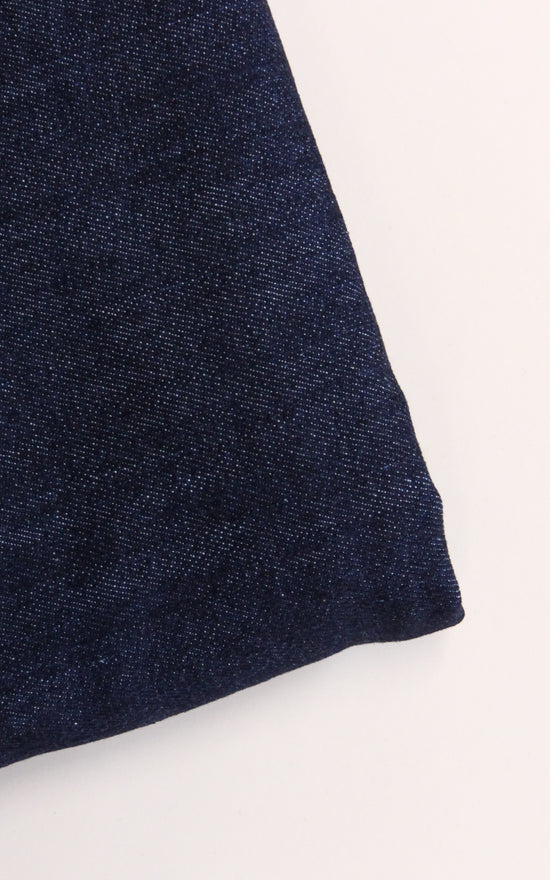 REMNANT: Dark Indigo Cone Mills Stretch Denim, 1.25 yd