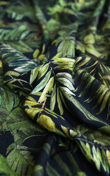 REMNANT: Tropical Crepe Jersey, 1.5 yd