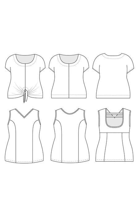 Cedar Workout Tank & Dolman Top PDF pattern