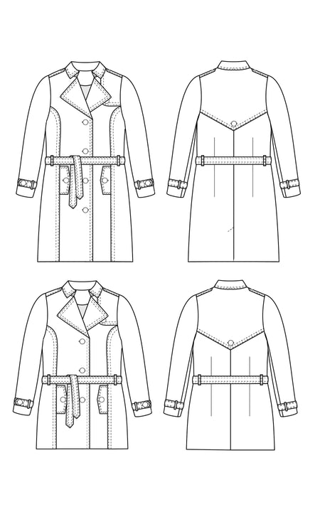 Chilton Trench Coat printed pattern