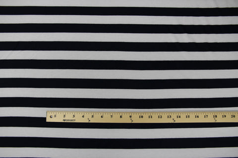 Turner Bundle: Navy and White Stripe Jersey Fabric Kit - Cashmerette Patterns - 1