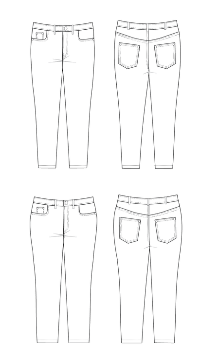 Ames Jeans printed pattern