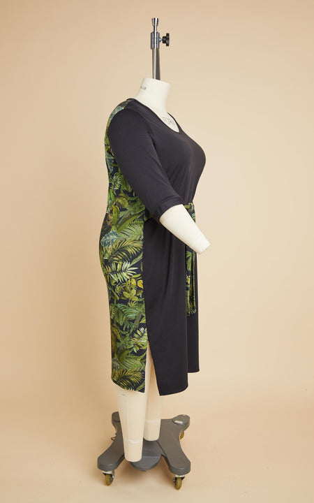 Pembroke Dress Bundle: Tropical & Black Fabric Kit