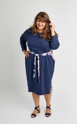 Pembroke Dress Bundle: Abstract Prism & Navy Fabric Kit