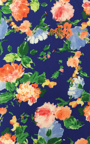 Springfield Bundle: Blue & Orange Floral Kit - Cashmerette Patterns - 1