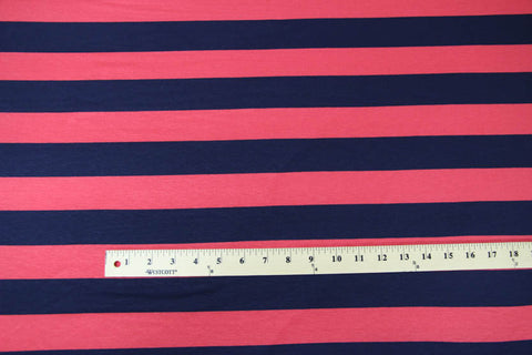 Turner Bundle: Coral and Navy Stripe Jersey Fabric Kit - Cashmerette Patterns - 1