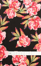 Appleton Dress Bundle: Peony on Black Fabric Kit
