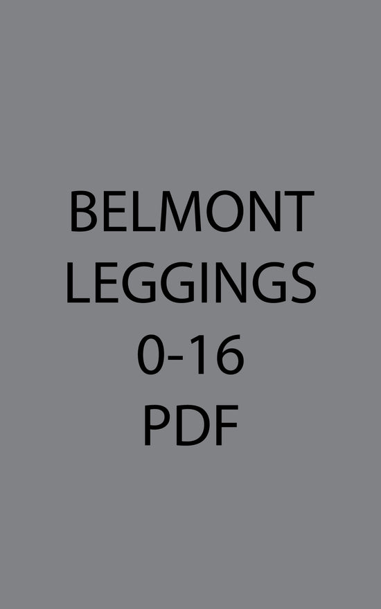 Belmont Leggings & Yoga Pants 0-16 PDF pattern