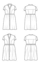Lenox Shirtdress PDF pattern