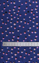 Royal Blue Showering Dots Tencel Lawn — 1/4 yard
