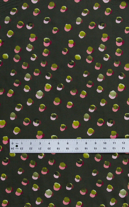 Olive Showering Dots Tencel Lawn — 1/4 yard