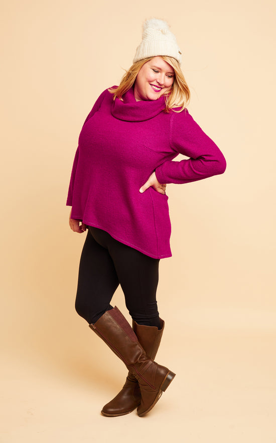 Tobin Sweater Bundle: Fuchsia Boiled Wool Blend Kit