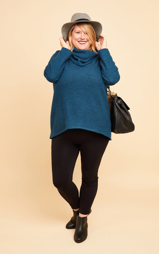 Tobin Sweater Bundle: Teal Boiled Wool Blend Kit